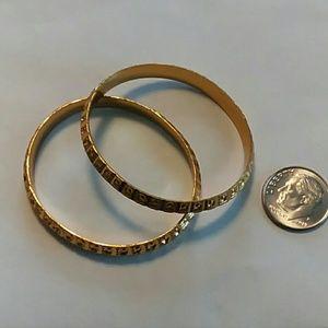 Jewelry - Gold Tone Baby Bangles